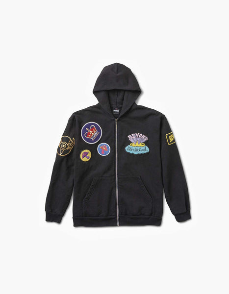 Beyond Wonderland Patches Zip Hood