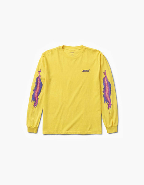 Insomniac-2017 Flame Long Sleeve Tee Yellow