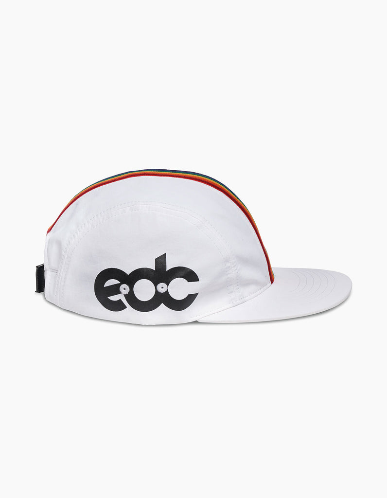 EDC Rainbow Stripe Cap White