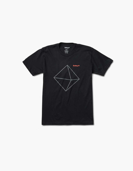Factory 93 Diamond Logo Tee Black