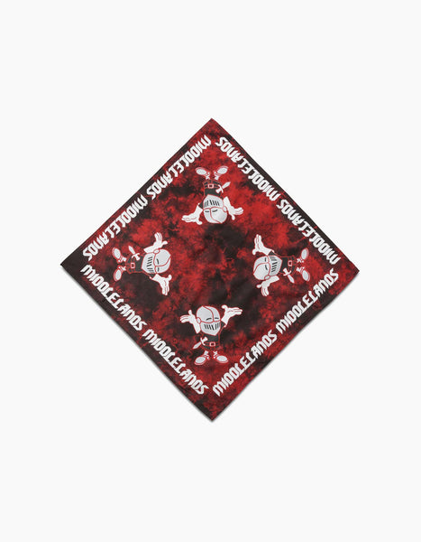 Tourguide Tie Dye Bandana Red