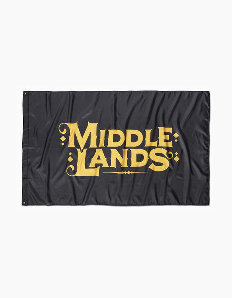 Middlelands Knight Flag Black