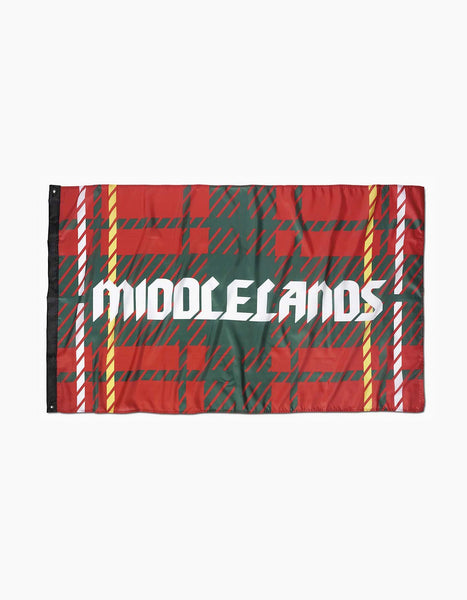 Middlelands Tartan Flag Red