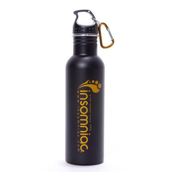 Insomniac Black & Gold Water Bottle
