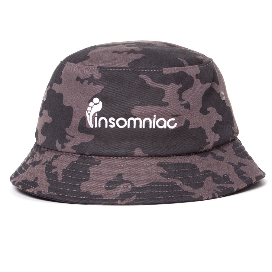 A  Insomniac Blacked Out Bucket Hat