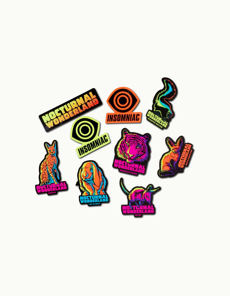 Nocturnal Wonderland - 2018 Sticker Pack
