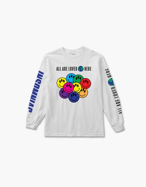 All Are Loved Here L/S Tee White