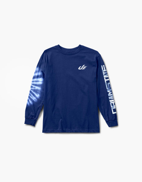 Dreamstate Notion Tie Dye L/S Tee Blue