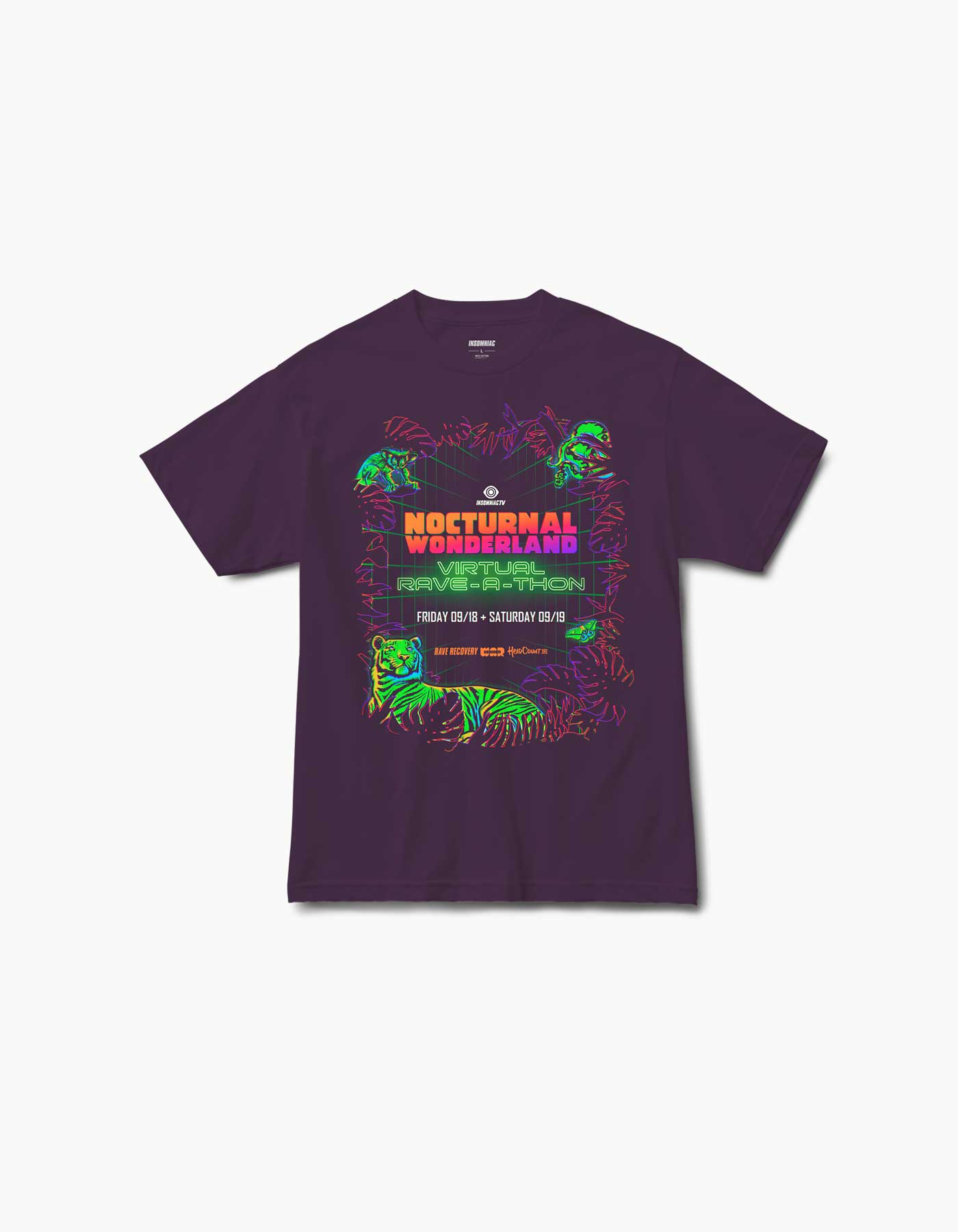 Nocturnal Virtual 2020 Line Up S/S Tee Purps