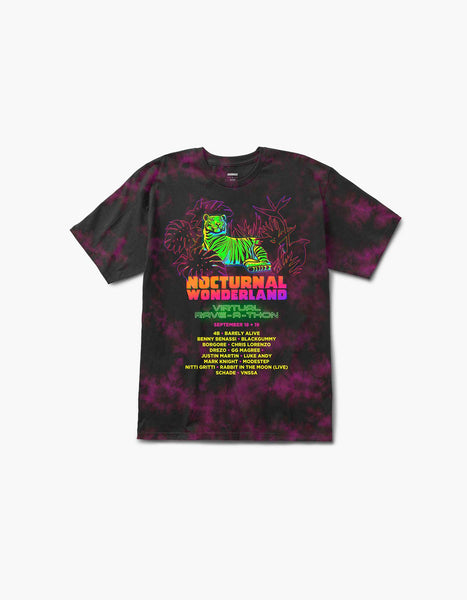 Nocturnal Tiger Line Up Tie Dye S/S Tee