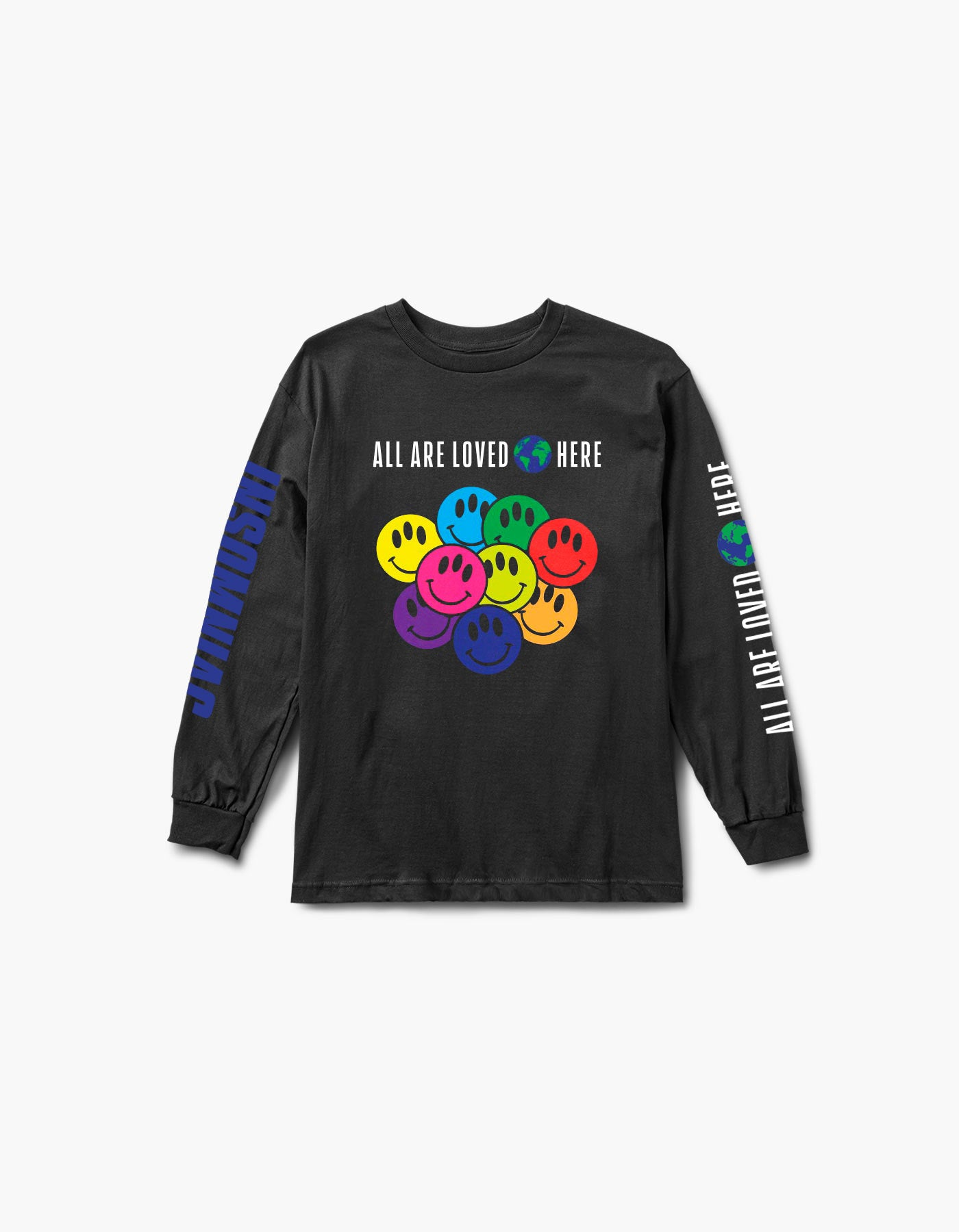 All Are Loved Here L/S Tee Black
