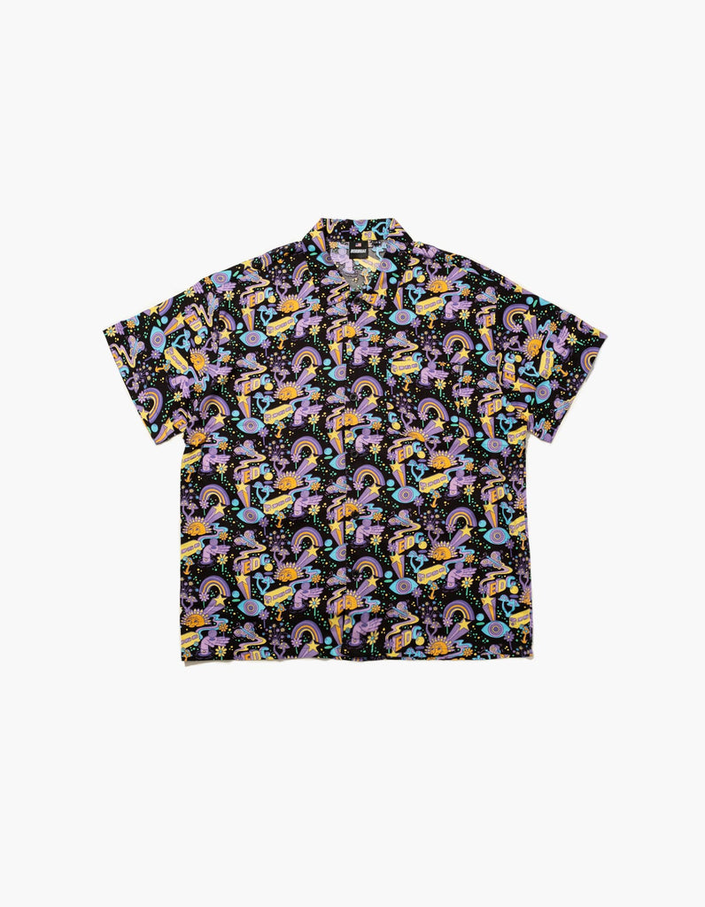 EDC Sunshine Party S/S Button Down Top