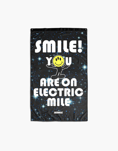 Electric Mile Smile Flag
