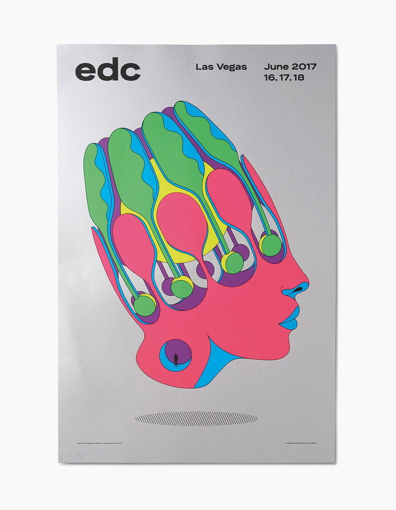 EDC Vegas - 2017 Limited Edition Head Poster