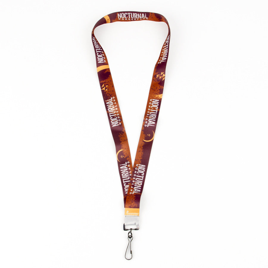 Nocturnal Wonderland Brown Lanyard