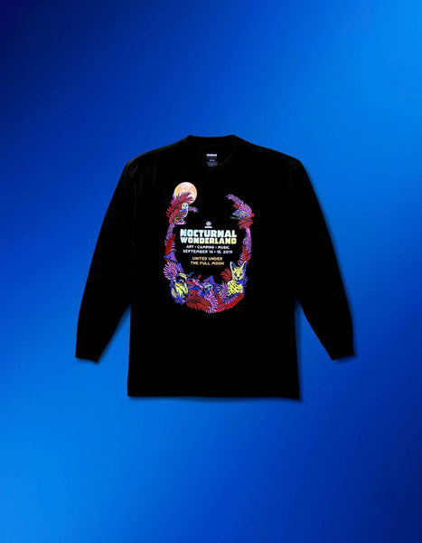 Nocturnal 2019 Moon Line Up L/S Tee