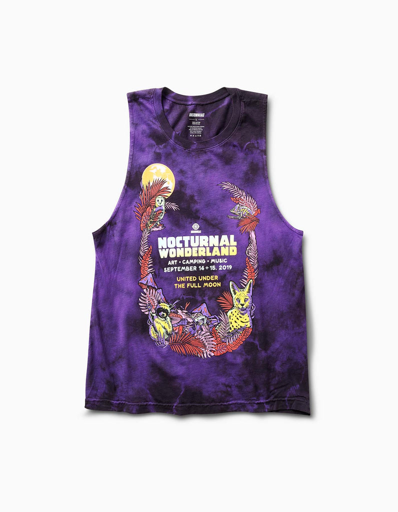 Nocturnal 2019 Moon Line Up Womens Muscle Tank