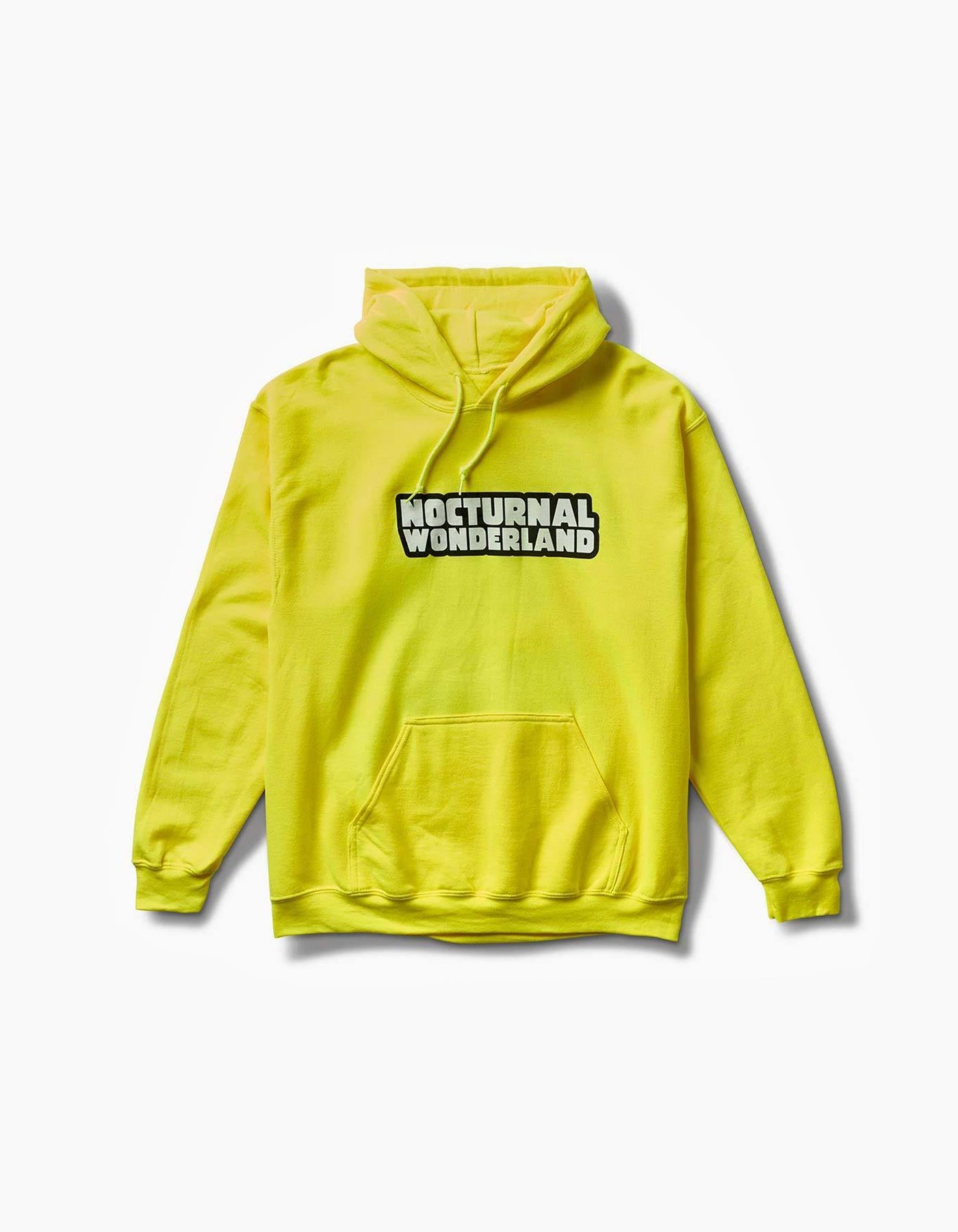 Nocturnal Neon Frog Hoodie Yellow