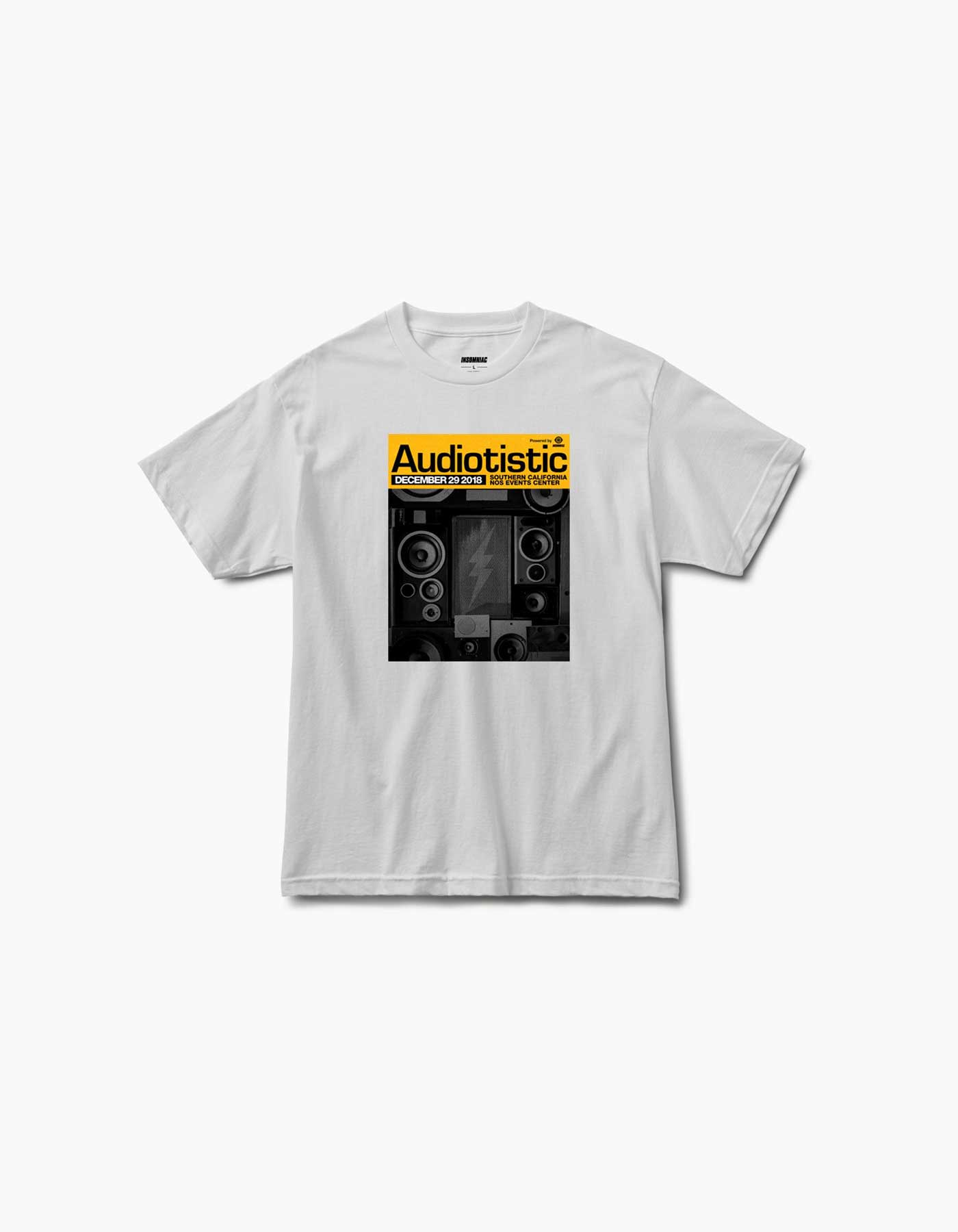 Audiotistic 2018 - So Cal - Socal 2018 Line Up Tee White