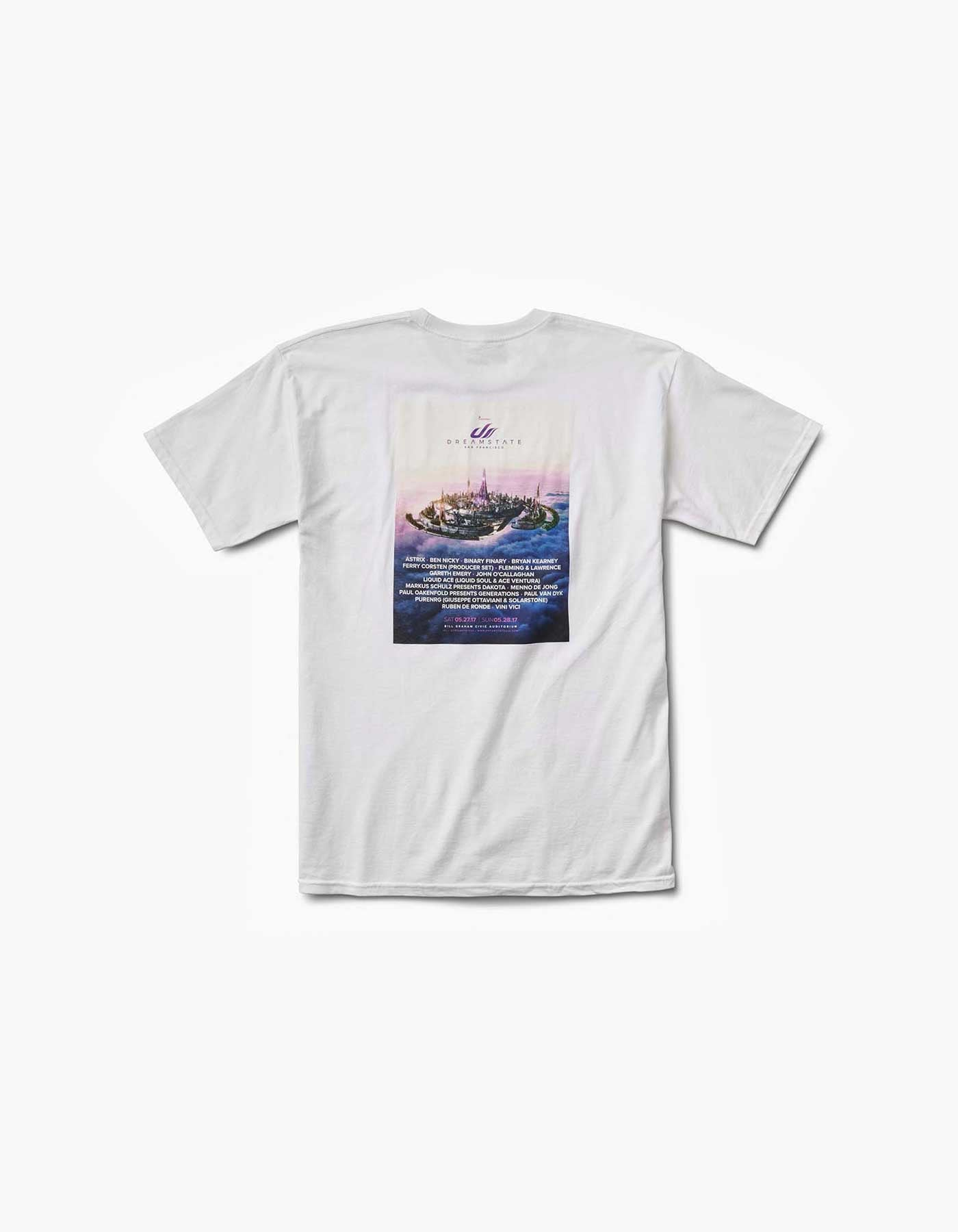 Dreamstate-2017 SF Line Up Tee White