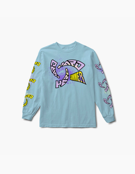 HARD Whirlpool L/S Tee Light Blue