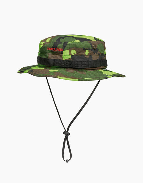 Neon Camo Jungle Hat Green