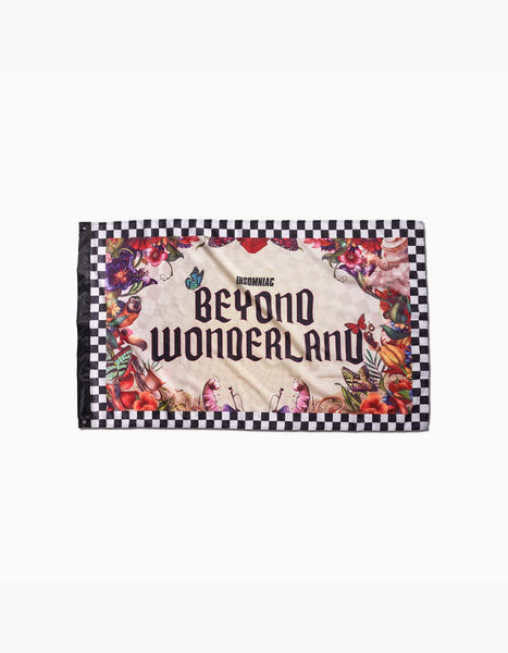 Beyond Wonderland Rabbit Hole Flag