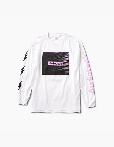 Audiotistic Speaker Long Sleeve Tee White