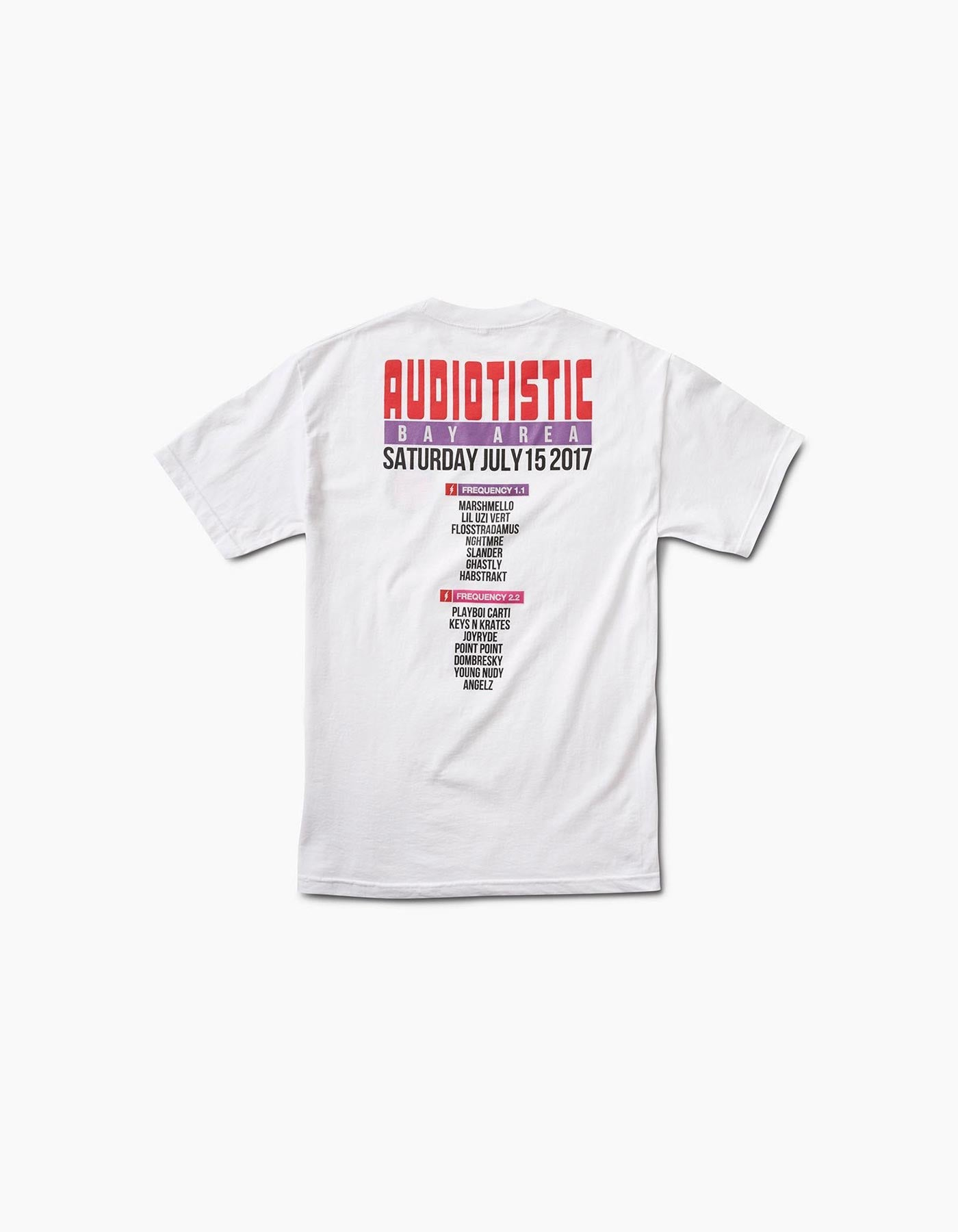 Audiotistic Bay Area 2017 SF Line Up Tee