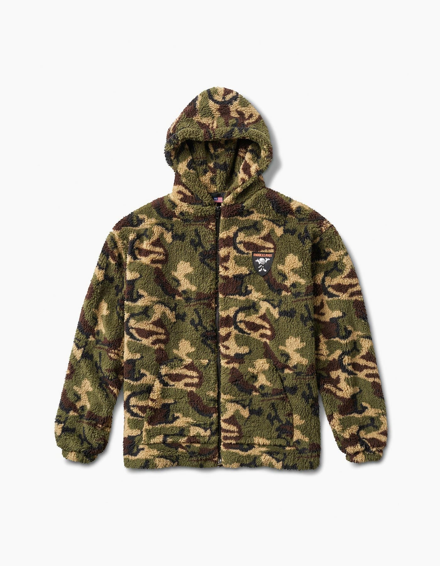 Camo Sherpa Jacket Green