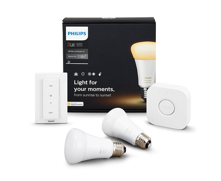 Philips Hue A19 White Ambiance Starter Kit