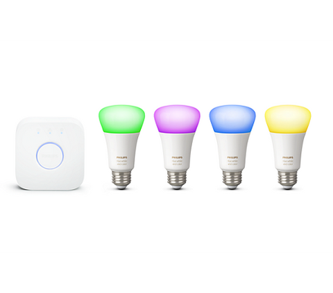 Philips Hue A19 White & Color Ambiance Starter Kit (4 bulbs)