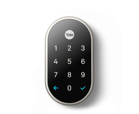 Nest x Yale Lock (Satin Nickel) w/ Nest Connect