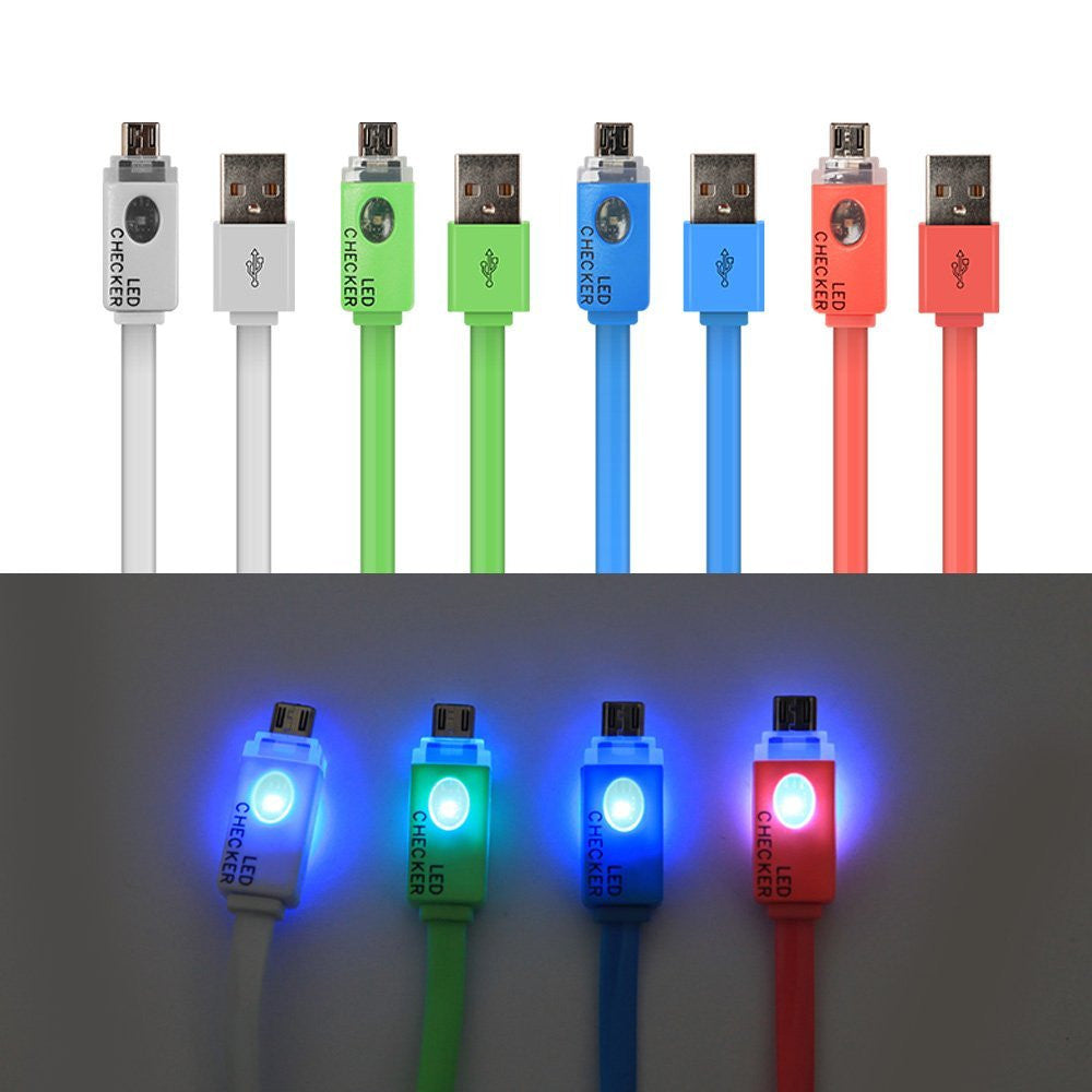 Micro USB Cables with LED indicator