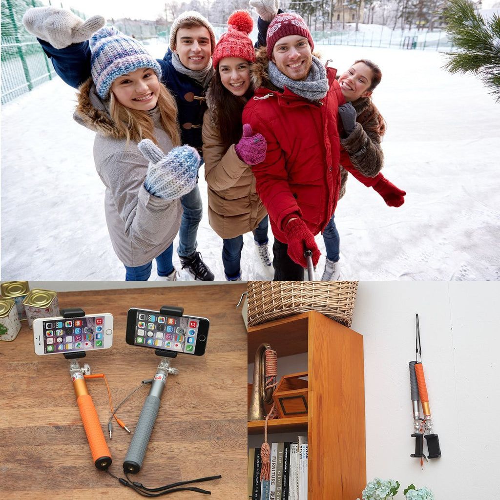 Monopod Aluminum Selfie Sticks & Poles with Mirror