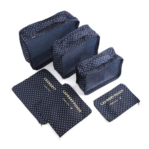 Travel Pouch Luggage Organizer 6 pcs Set