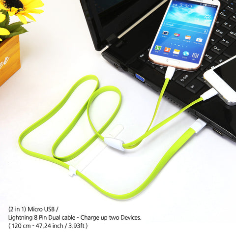 M2 Magnetic 2 in 1 Duo cable (Micro 5pin + 8Pin)