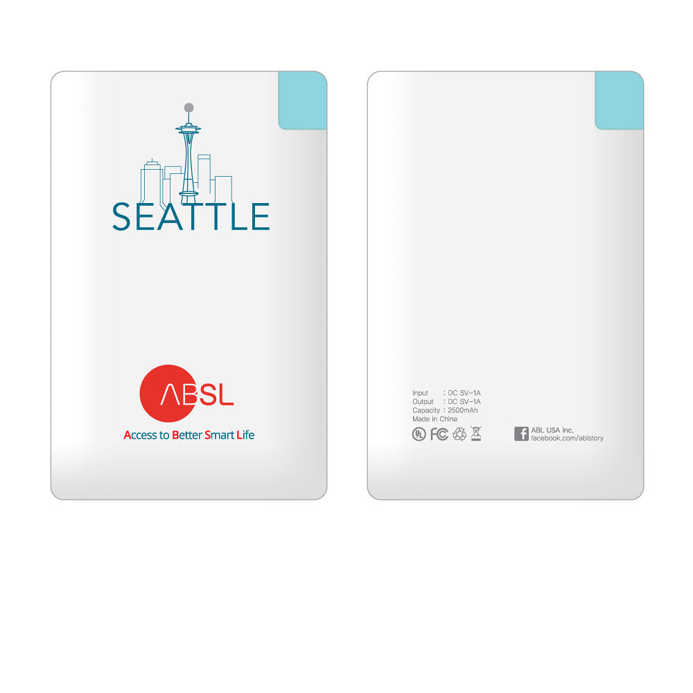 Ultra Thin Seattle 2500mAh Power Bank