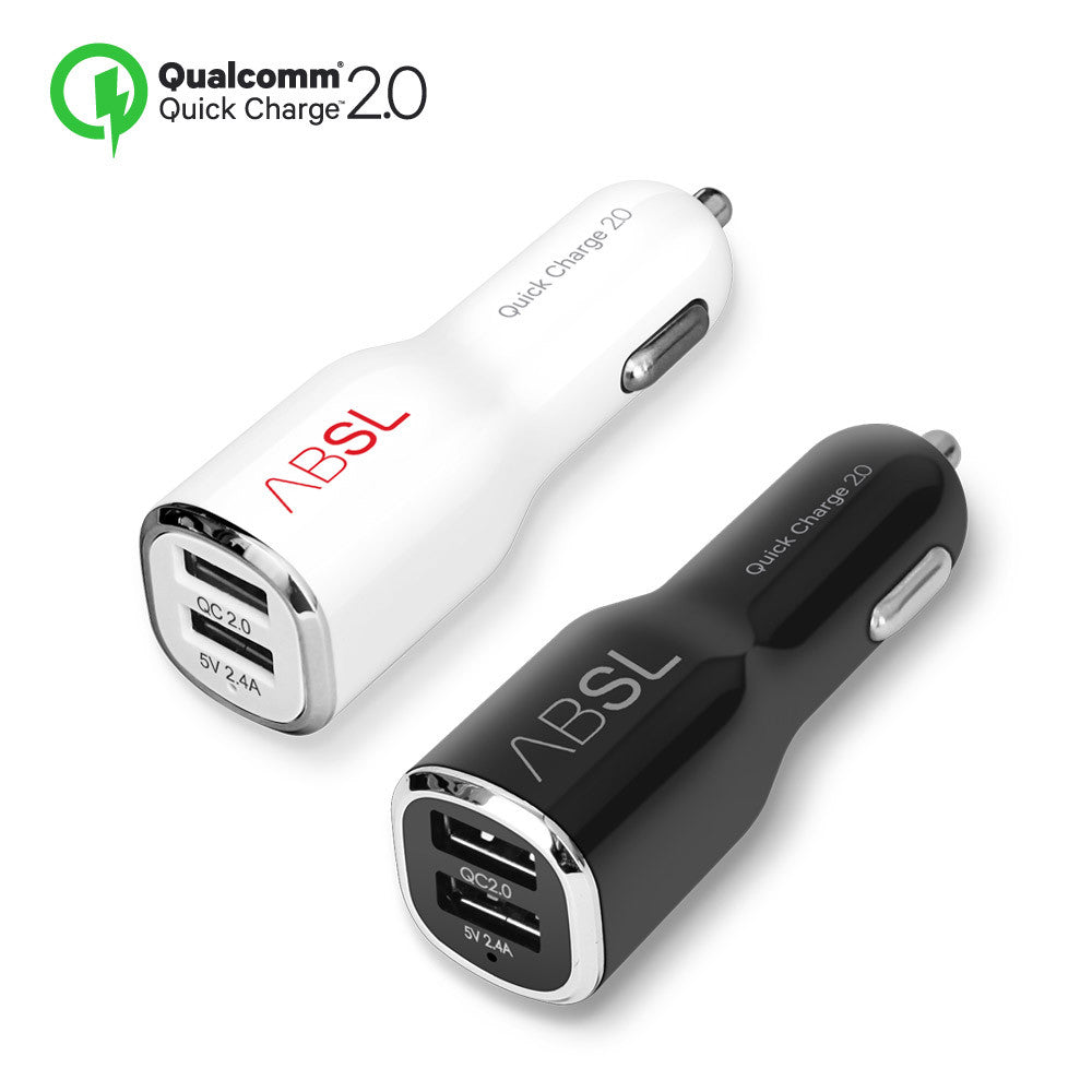 QCDUO Quick Charge 2.0 30W USB 2Port Car Charger