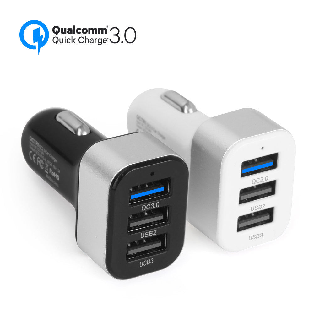 QCTRI Quick Charge 3.0 45W USB 3Port Car Charger