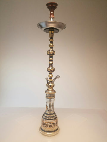 Khalil Mamoom Twin Tower Hookah Oxide