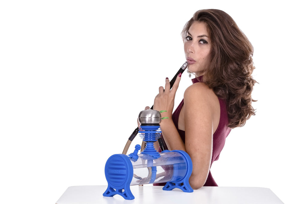Girl with Blue Hookah