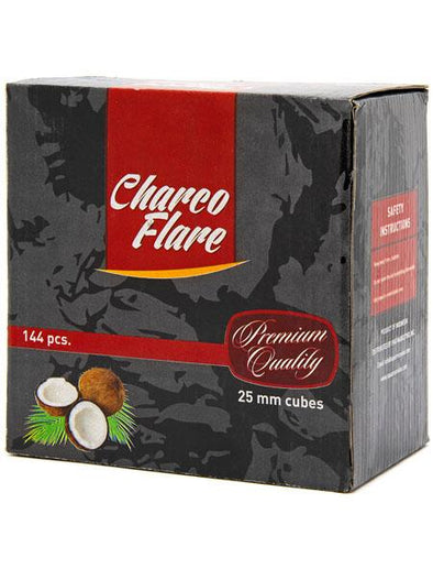 Charco Flare Coconut Charcoal 144pc Cubes - TheHookah.com