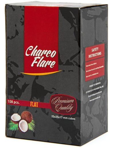 Charco Flare Coconut Charcoal 112pc Cubes - TheHookah.com