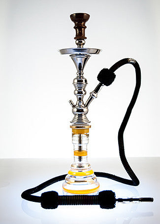 The Small Genie Hookah Gold Stripe - TheHookah.com