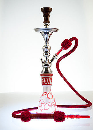 The Small Genie Hookah Red Hooroof - TheHookah.com