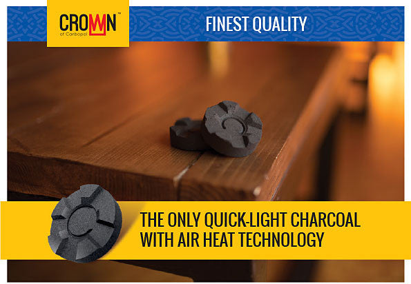 Crown Quick-Light Hookah Charcoal