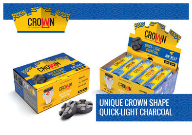 Crown Quick-Light Hookah Charcoal Box 100pcs - TheHookah.com