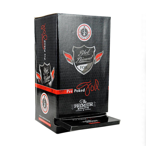 Black Diamond Pre-Poked Hookah Foils 50pcs (24 Count Box) - TheHookah.com