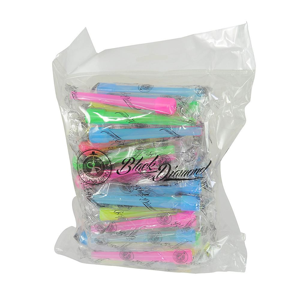 Black Diamond X-Large Hookah Mouth Tips 50pc Bag - TheHookah.com
